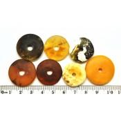 Lot of 7  mixed Baltic amber amulet pendants