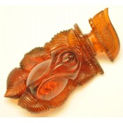 Hand carved amber rose pendant