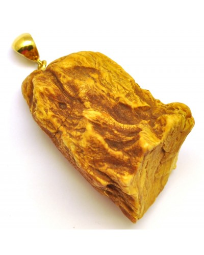 Raw  Baltic amber pendant 19 g.