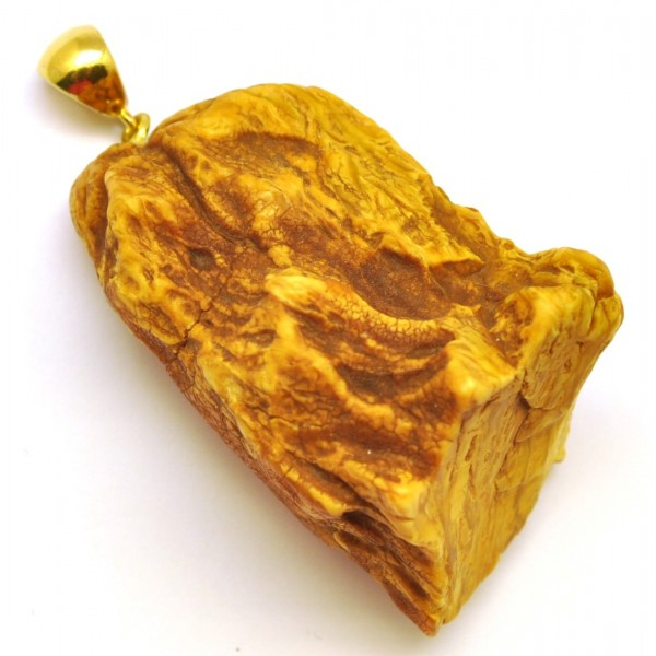 Raw | Raw Baltic amber pendant 19 g.