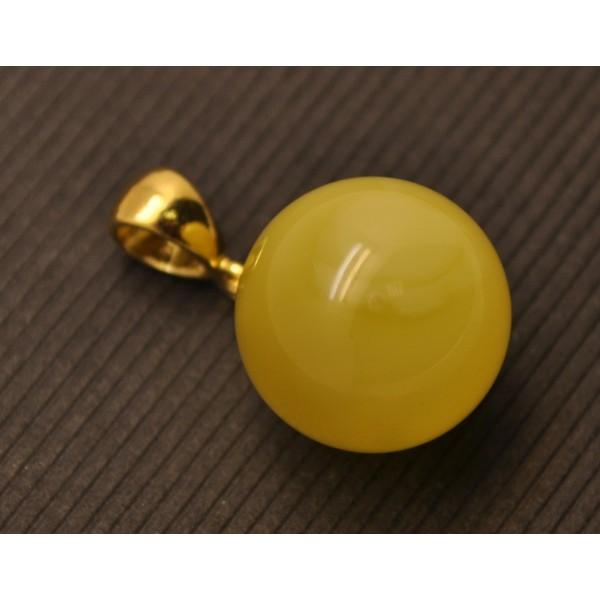 Baltic amber round pendant 15,5 mm-AP1071