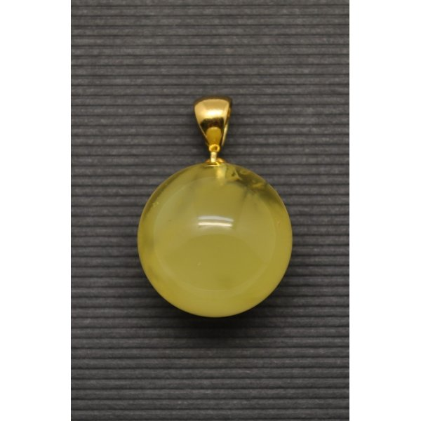 Baltic amber round pendant 19 mm-AP1020