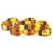 Lot of 10 elastic amber rings