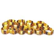 Lot of 20 elastic amber rings