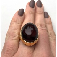 Cherry Genuine Baltic Amber ADJUSTABLE Ring
