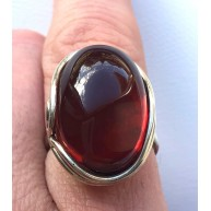 Genuine Baltic Amber ADJUSTABLE Silver Ring -AR0173