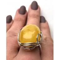 YELLOW Genuine Baltic Amber Ring