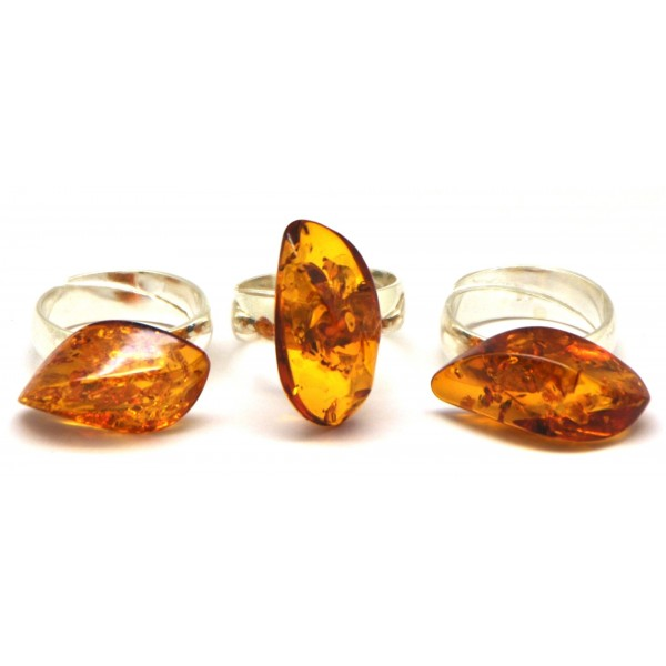 b11f1a309 Lot of 3 Baltic amber rings from online Baltic Amber Jewelry Store