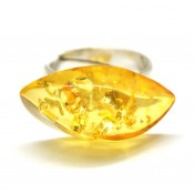 Baltic amber lemon ring