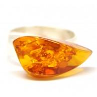 Baltic amber cognac ring