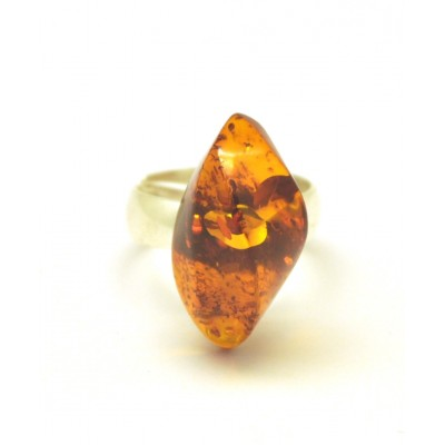 Baltic amber cognac ring