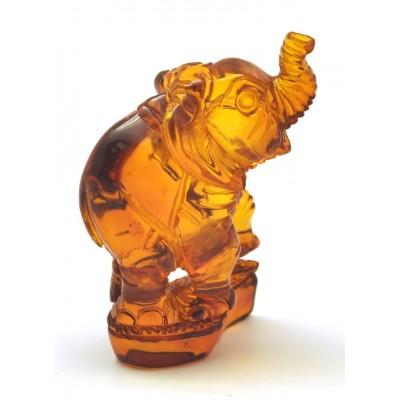 Hand carved Baltic amber figure of elephant-AF0272