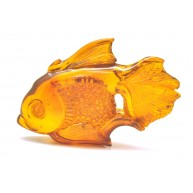 Hand carved Baltic amber figure of fish