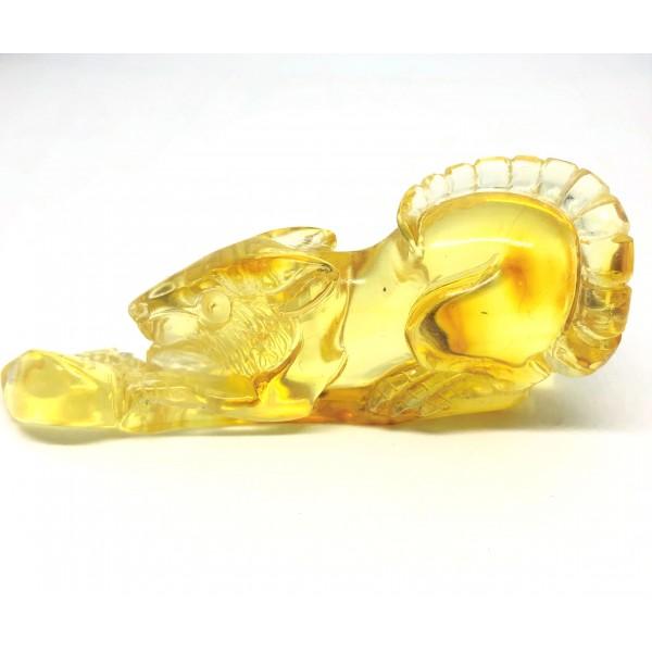 Hand Carved Rat Genuine amber piece figurine -AF0280