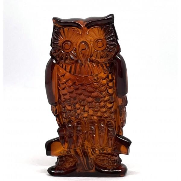 Carved Natural Amber Owl Figurine Superb Quality Handmade 12g -