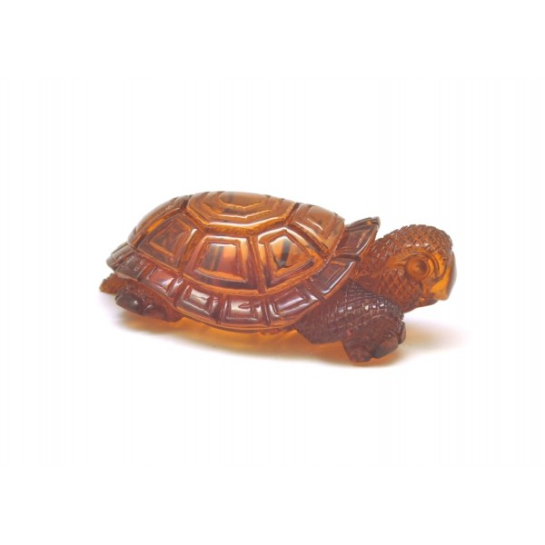 Amber figures | Hand carved Baltic amber figure of turtle