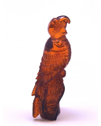 Hand carved Baltic amber figurine of eagle