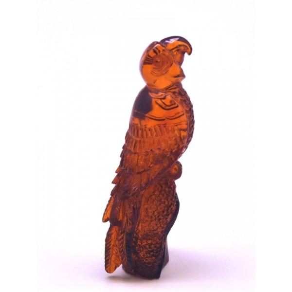 Hand carved Baltic amber figurine of eagle-AF0260