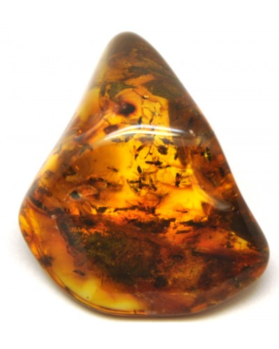 Baltic amber stone with big swarm of insects