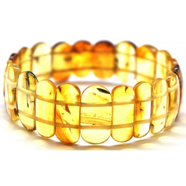Amber with insects | Classic Baltic amber bracelet with insects