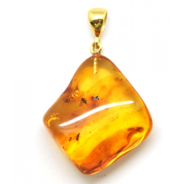 Amber with insects | Baltic amber pendant with insect