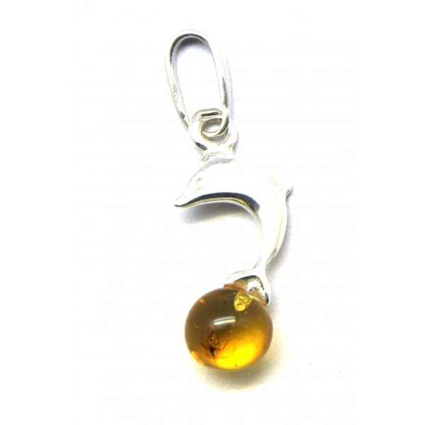 Baltic amber pendant with insect-AI0551