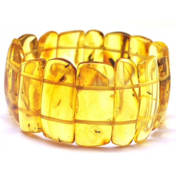 Amber with insects | Baltic amber bracelet with insects
