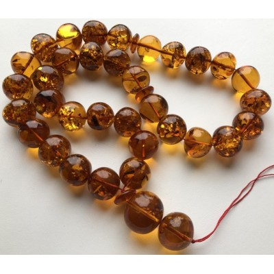Amber Baltic ROSARY 159 Gr  Prayer Beads Islamic Amber