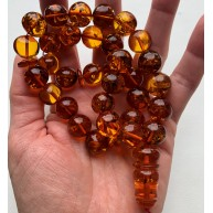 Amber Baltic ROSARY 53 Gr  Prayer Beads Islamic Amber