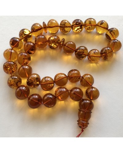Islamic 33 prayer beads baroque amber rosary 91g