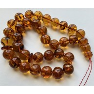 Islamic 33 prayer beads baroque amber rosary