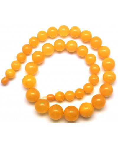 Antique Baltic amber round beads necklace -RAU702