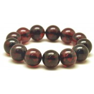 Cherry round beads Baltic amber bracelet  17 - 18 mm.