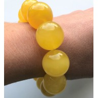 Natural round beads amber bracelet 18mm