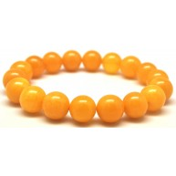 Round beads antique color amber bracelet 11 mm.-RAU712