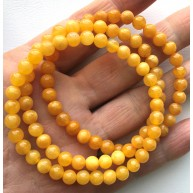 Lot of 3 Antique color round beads amber bracelets -RAU725