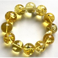 Round beads Baltic amber bracelet 18-19 mm.