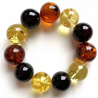 Round beads Baltic amber bracelet 19-20 mm.