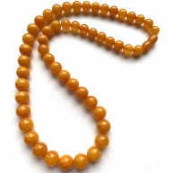 Antique Baltic amber necklace,round beads 21g