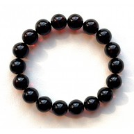 Cherry Amber Round Beads Stretch Bracelet 10 mm