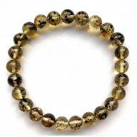 Natural Plant Amber Bracelet Round Beads 8mm