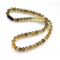 Natural Plant Amber Necklace Round Beads