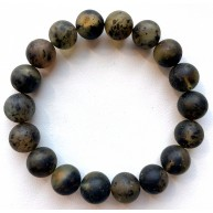 Raw Healing Baltic Amber Round Beads Bracelet 11 mm