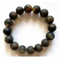 Raw Healing Baltic Amber Round Beads Bracelet 12,5 mm