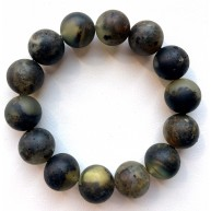 Raw Healing Baltic Amber Round Beads Bracelet 15 mm