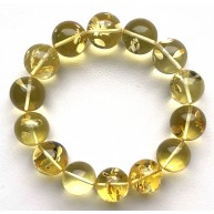 Round beads Baltic amber bracelet 15-16 mm.