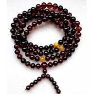 108 Prayer Beads NATURAL BALTIC AMBER Tibetan Buddhist Rosary Buddha 54,4g