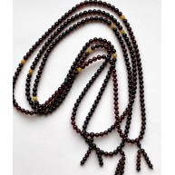 3 Buddhist Tibetan Mala Amber Prayers 108 Round Beads 5mm