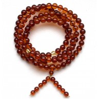 Baltic Amber Tibetan Buddhist Prayer Round Beads 7mm