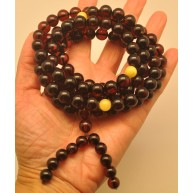 Baltic amber Tibetan Buddhist Mala Prayer 108 beads 10,5 mm